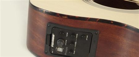Recording King ROM-06-CFE4 OM Cutaway, Fishman Pickup- Image 3