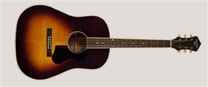 Recording King RAJ-122-SN Slope Shoulder 12th Fret Guitar, Mahogany, Sunburst