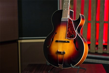 The Loar LH-350 Archtop Guitar - Vintage Sunburst- Image 6