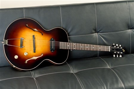 The Loar LH-301T-VS Thinbody Archtop Guitar - Vintage Sunburst- Image 1