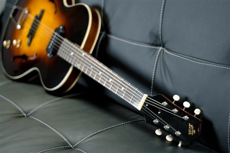 The Loar LH-301T-VS Thinbody Archtop Guitar - Vintage Sunburst- Image 2