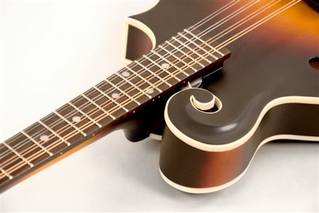 The Loar LM-370-VSM F-Model Mandolin, Satin Vintage Sunburst- Image 4