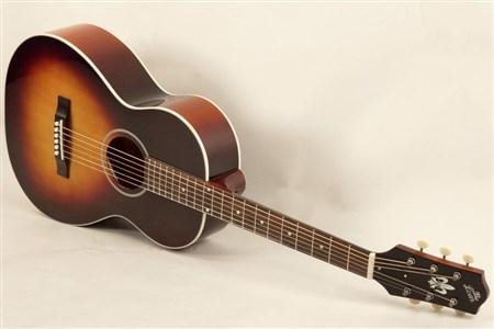 The Loar LO-215-SN The Loar Flat Top O Body Guitar, Maple, Sunburst- Image 6