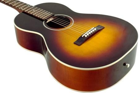 The Loar LO-215-SN The Loar Flat Top O Body Guitar, Maple, Sunburst- Image 1