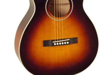 The Loar LO-215-SN The Loar Flat Top O Body Guitar, Maple, Sunburst- Image 3