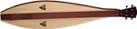 Recording King FI-220 Lap Dulcimer Inc Foam Case