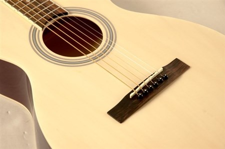 Savannah SGP-12 Parlour Size Acoustic Guitar, Natural- Image 2