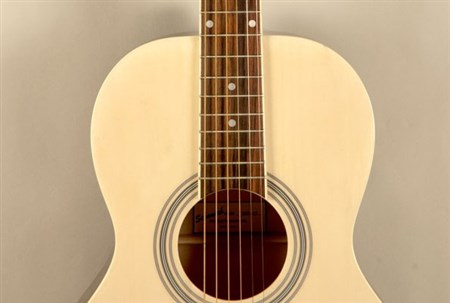Savannah SGP-12 Parlour Size Acoustic Guitar, Natural- Image 3