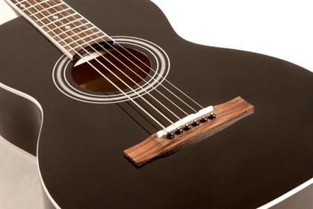 Savannah SGP-12 Parlour Size Acoustic Guitar, Black- Image 2
