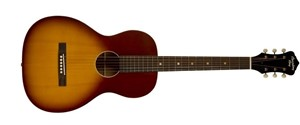 Recording King Dirty 30s Series 9 O Size Solid Top Parlour Acoustic Guitar, Tobacco Sunburst