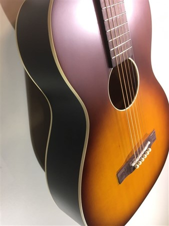 Recording King Dirty 30s Series 9 O Size Solid Top Parlour Acoustic Guitar, Tobacco Sunburst- Image 3