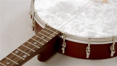 Recording King Dirty 30s 4 String Open Back Tenor Banjo- Image 2