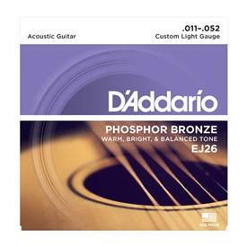 D'addario EJ26 Phosphor Bronze Acoustic Guitar Strings 11-52