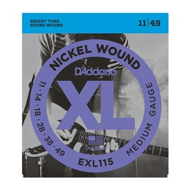 D'addario EXL115 Nickel Wound Electric Strings 11-49