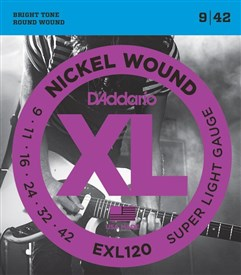 D'addario EXL120 Nickel Wound Electric Strings 9-42