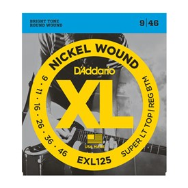 D'addario Exl125 Nickel Wound Electric Strings 9-46