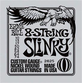 Ernie Ball 8 String Slinky Guitar Strings 10-74 2625