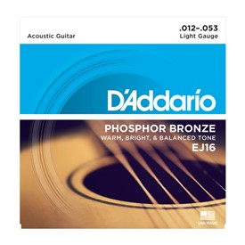 D'addario Ej16-3d 12-53 Phosphor Bronze Light