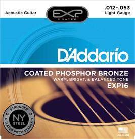 D'addario EXP16 Coated Phosphor Bronze Strings 12-53