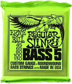 Ernie Ball Regular Slinky 5 String Bass Strings 45-130 2836