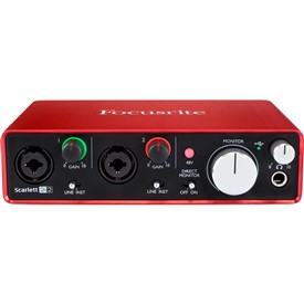 Focusrite Scarlett 2i2 Mk2 Usb Computer Audio Interface Mac / Pc