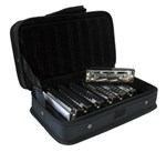 Hohner Blues 7 Piece Harmonica Set & Case 000536- Image 1