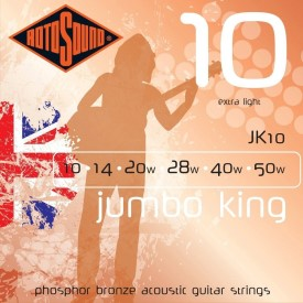 Rotosound Jumbo King JK10 Phosphor Bronze 10-50 Acoustic Strings