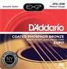 D'addario EXP17 Coated Phosphor Bronze Strings 13-56, Medium- Image 1