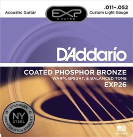 D'addario EXP26 Coated Phosphor Bronze Strings 11-52