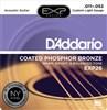 D'addario EXP26 Coated Phosphor Bronze Strings 11-52, Custom Light- Image 1