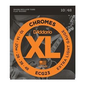 D'addario ECG23 Chromes Flatwound Electric Strings 10-48
