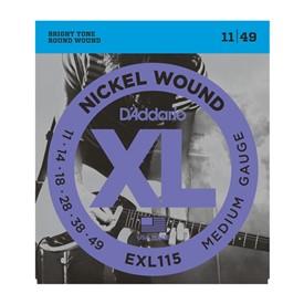 D'addario Electric 11-49 Blues/Jazz Rock Exl115-3D Pack