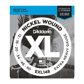 D'addario EXL148 Nickel Wound Electric Strings 12-60