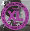 D'addario Electric 9-42 Super Light EXL120-3D 3 Pack- Image 1