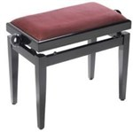 Stagg Pb45 Ma-p Piano Bench Pb45 Excl Seat Top, Mahogany, High Gloss- Image 1