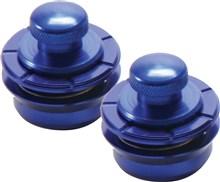 Hennessey Strap Locks, Metallic Blue
