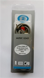 Roni, Lead 3.5mm Stereo Plug To 2x Phono 1.2m Gl62