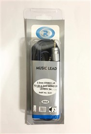Roni Lead 3.5mm St - 2 Mono Jack 3mtr Gl41 3m
