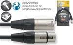 Stagg XLRF-XLRM MIC cable / lead / LEAD NMC1R, Black, 1m- Image 1