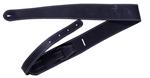 Fender Monogram Embossed Leather Guitar Strap, Black- Image 1