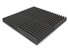 EQ Acoustics Classic Wedge Foam Tile 30cm Grey Pack Of 16- Image 1