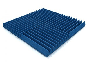 EQ Acoustics Classic Wedge Foam Tiles 30cm Blue Pack Of 16 - Image 1