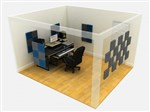 EQ Acoustics Classic Wedge Foam Tiles 30cm Blue Pack Of 16- Image 2