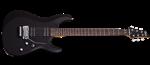 Schecter C-6 FR Deluxe Guitar, Satin Black- Image 1