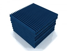 EQ Acoustics Tiles Classic Wedge 60cm Pack Of 8, Blue