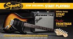 Squier Affinity HSS Stratocaster Guitar Pack Includes Frontman 15G Amplifier, Brown Sunburst- Image 1