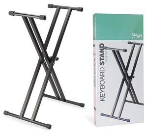 Stagg Double Braced Keyboard Stand KXS-A6