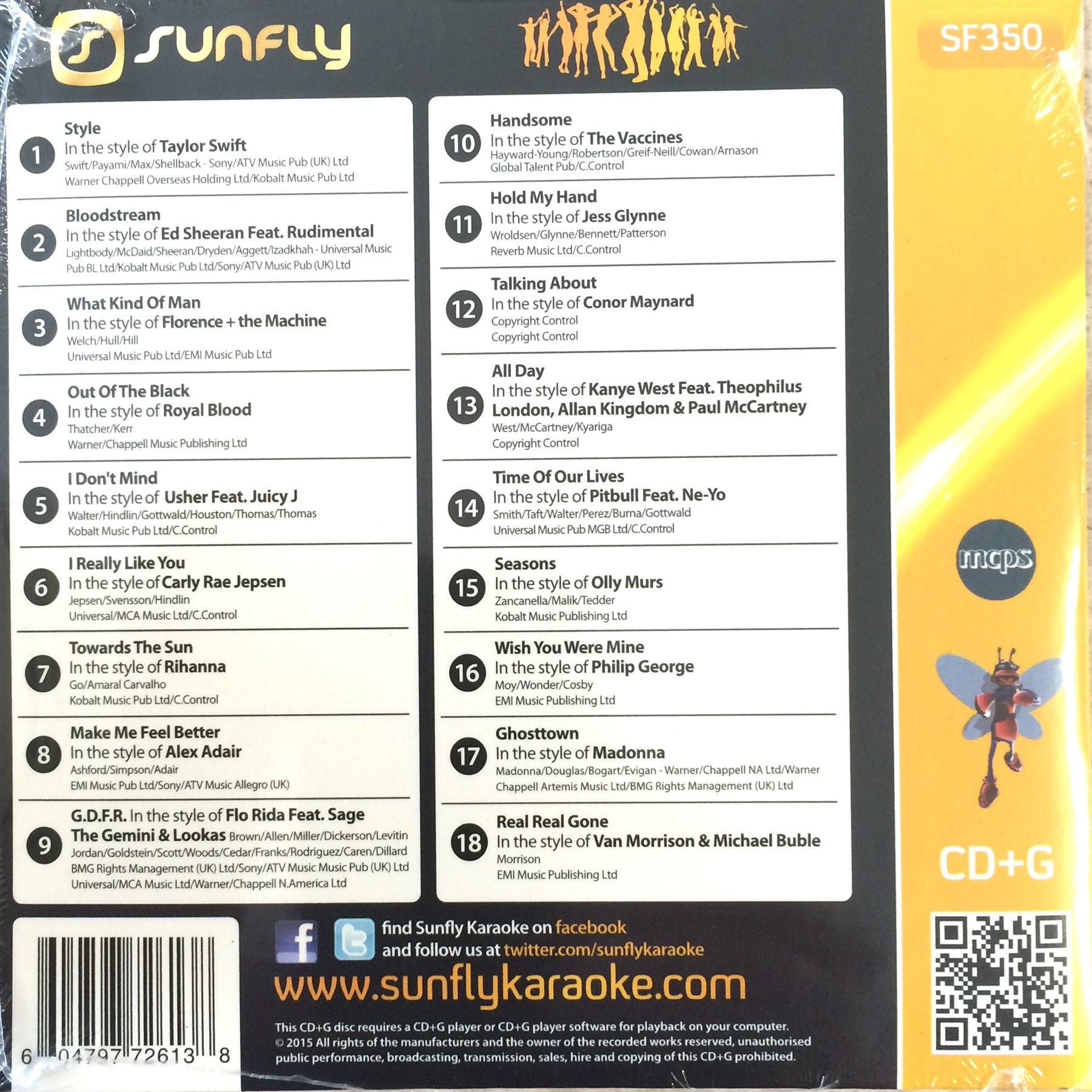 CDG Sunfly Karaoke SF350