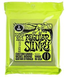 Ernie Ball Regular Slinky 10-46 3221 3 Sets