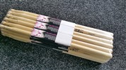 On Stage 5b Maple Wood Tip Mw5b Drum Sticks, Brick Of 12 Pairs